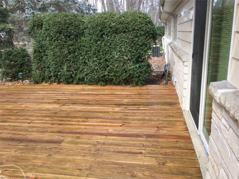 Deck Being Stained