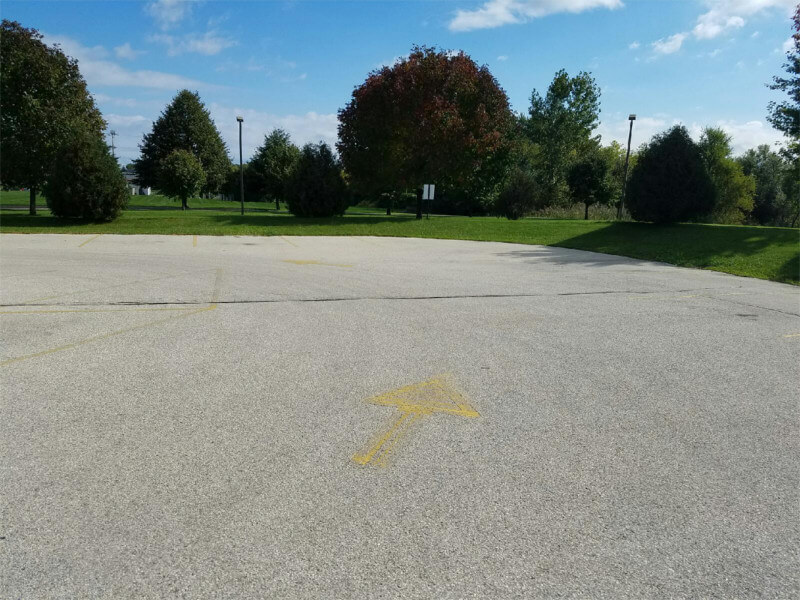 Parking Lot That Needs To Be Painted